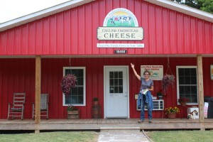 Pam at English Homestead Cheese stand
