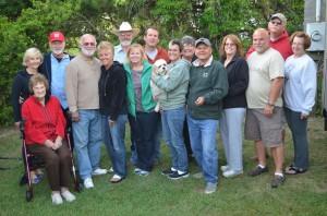 Front row: Rose, Guy. Sue, Cori, Hobie, me, Lee, Kelly, Bill, Jo Back row: Eileen, Gene, Glyn, Greg, Diane, Craig