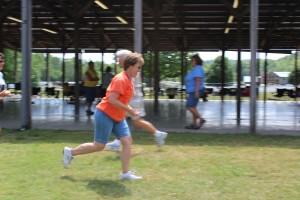 Linda chasing Howard