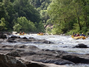 Picture of what the quarter mile rapid looked like