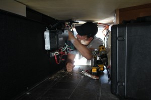 Greg hooking up the inverter