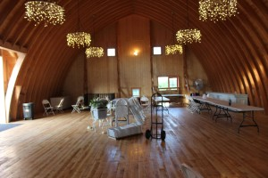 The upper level of the barn where dinner and dancing will be