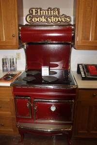 A cast iron stove with a cook top for the posers