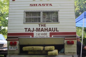 Ted's Camper is a 1980 Shasta that he fixed up. The Taj Mahal came with it!!