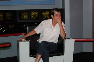 The moment I had been waiting for ...sitting in the Captain's chair channeling my inner Kirk...pondering how to get us out of another jam