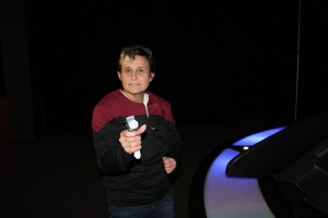 I tried on some costumes they had and got all badass with my phaser
