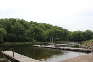 Boat dock area