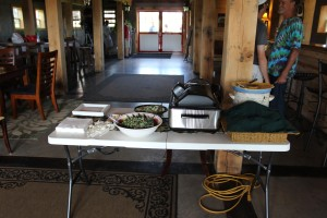 Pulled pork, cucumber salad, and kale salad all from ingredients produced from the farm ...yummy!!
