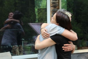 I got a big hug!!