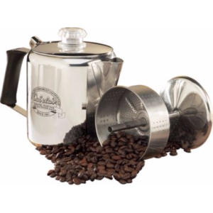 Awesome rubber handle and large coffee holder capacity