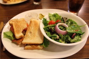 My BLT and salad, my standard diner order, was excellent and on;ly $7.95