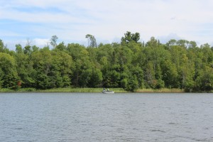 Fisherman staked out little coves throughout the lake but we went from place to place