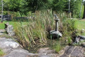 My very favorite. MR. Ellsworth made the sculpture, built the pond, and planted it