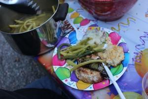 Dinner was yummy