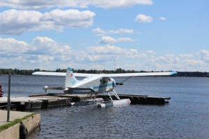 These planes take fisherman to remote camping areas