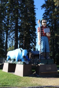 Love Paul Bunyon and Babe the Big Blue Ox . This wasn't to bad of a statue