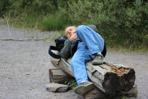 Lee walked over to a log, closed his eyes, and simply absorbed the moment