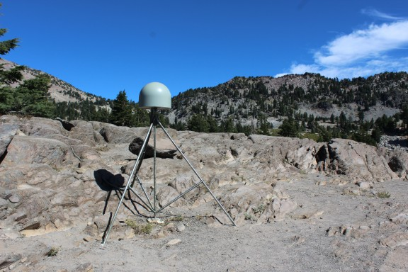 Seismograph monitor at the beginning of the trail