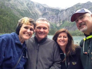 me, Lee, Deb, and Steve. It was windy so I definitely recommend ear protection