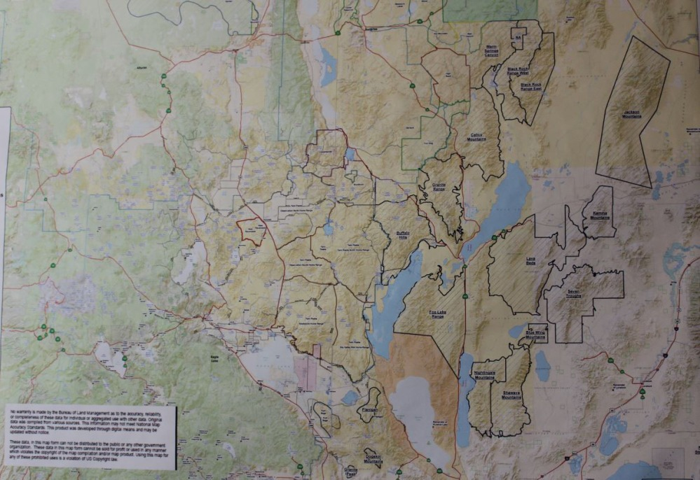 Map showing all the areas where wild horse live