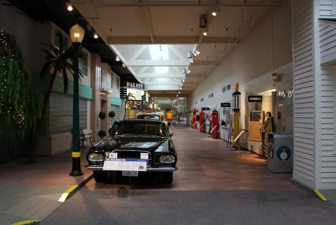 Each section of the museum was from a similar time period. This 40's era street was cool