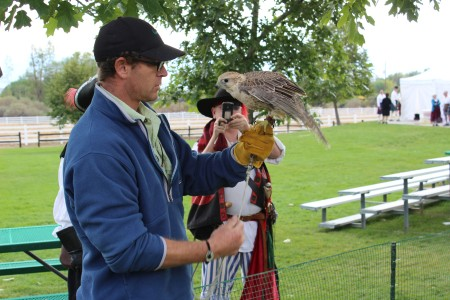 Unfortunately the falconer was less interested in talking than charging $10 per picture holding the birds, so we passed