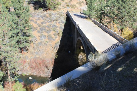 Underneath is a second stone bridge