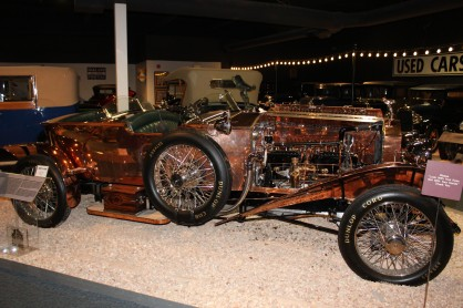 The 1921 Silver Ghost Rolls Royce was amazing. This one was made of solid plates of copper