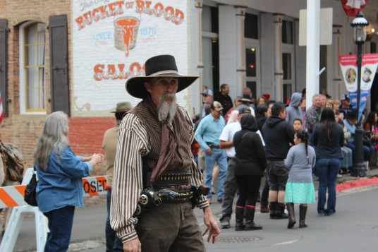 This guy did the starting guns hots..seriously old west