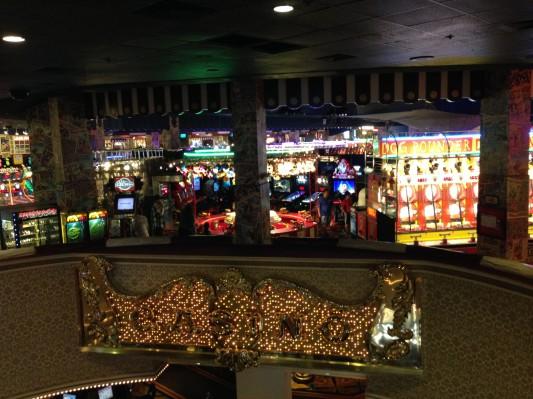 Casino downstairs and arcade upstairs