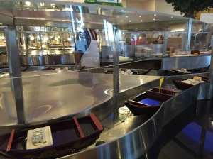 forgot to share a picture of this delicious chinese buffet we ate at. first decent Chinese food in a year and the sushi boats were awesome