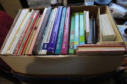 My awesome box of recipe books!!