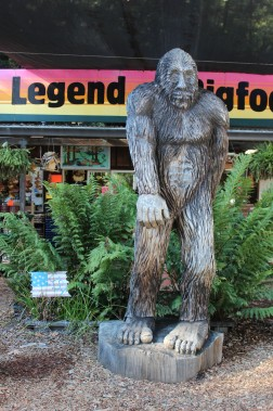 The bigfoot carving was fun