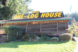 The One log house was great and only $1 to go inside