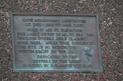 We stopped at this plaque which talked about the lighthouse that used to stand here