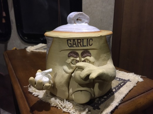 Local, handmade garlic keeper