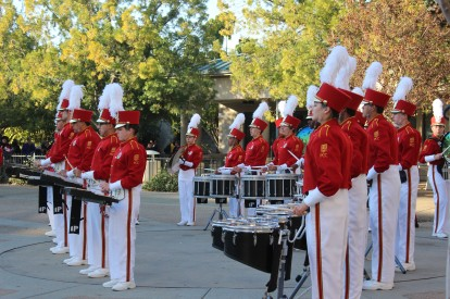 Some of the Pasadena College band played outside while we were waiting in line