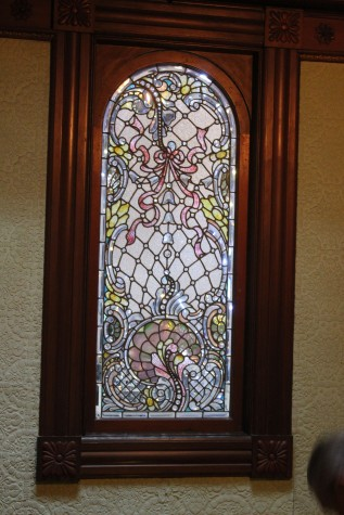 My second favorite thing was this beautiful one-of-a-kind Tiffany window that was designed for her