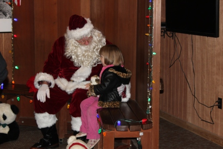 Santa was great with the kids