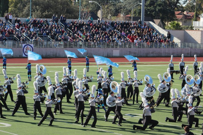 "Marching in the Rose Bowl Parade is the ""Super Bowl"" for marching bands and they have to go through a rigorous competition process to make it"