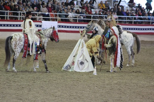 This group is the Calizona Appaloosa club. The horses were so pretty and the riders celebrate their native american heritage and 1,300 mile journey they made to Canada to escape the western soldiers