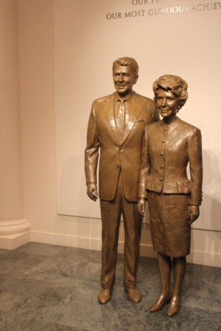Nice statue of President and Mrs Reagan you could pose with