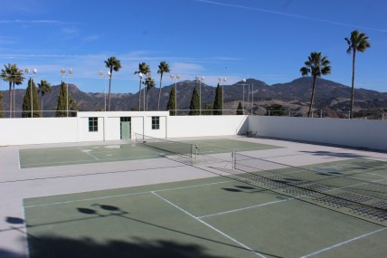 Tennis courts where Wimbledon winners would come to play