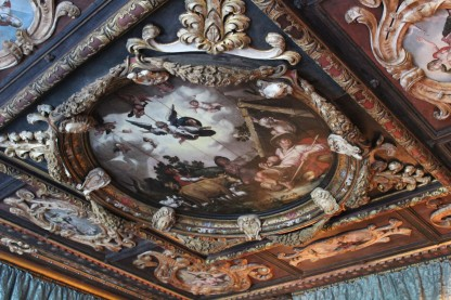 The ceiling in one of the common rooms