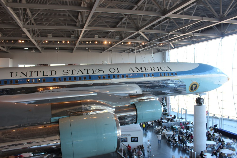 The coolest thing was a complete Air Force One Plane. It was dissamsembled and reassembled here with the building being built around it
