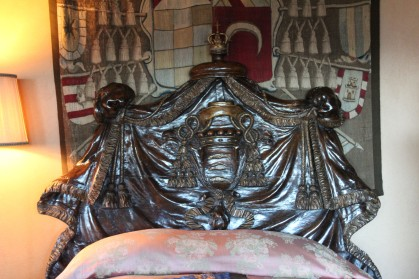 Loved, loved this bed which belonged to a bishop