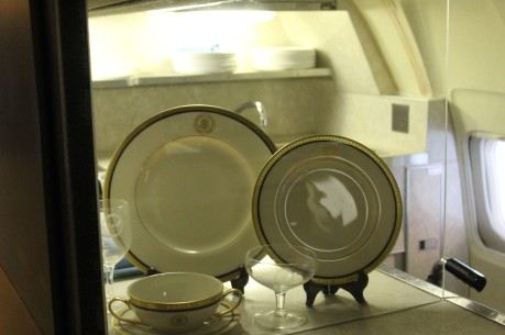 The very small galley even had its own white house dishes