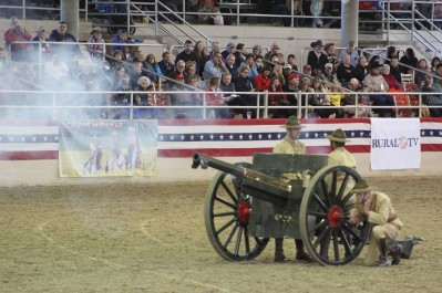 They even fired the cannon. Loud!
