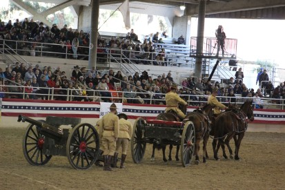 It was neat when they showed how they hooked it up and their horses were very well trained