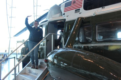 I really enjoyed standing on the steps of Marine One